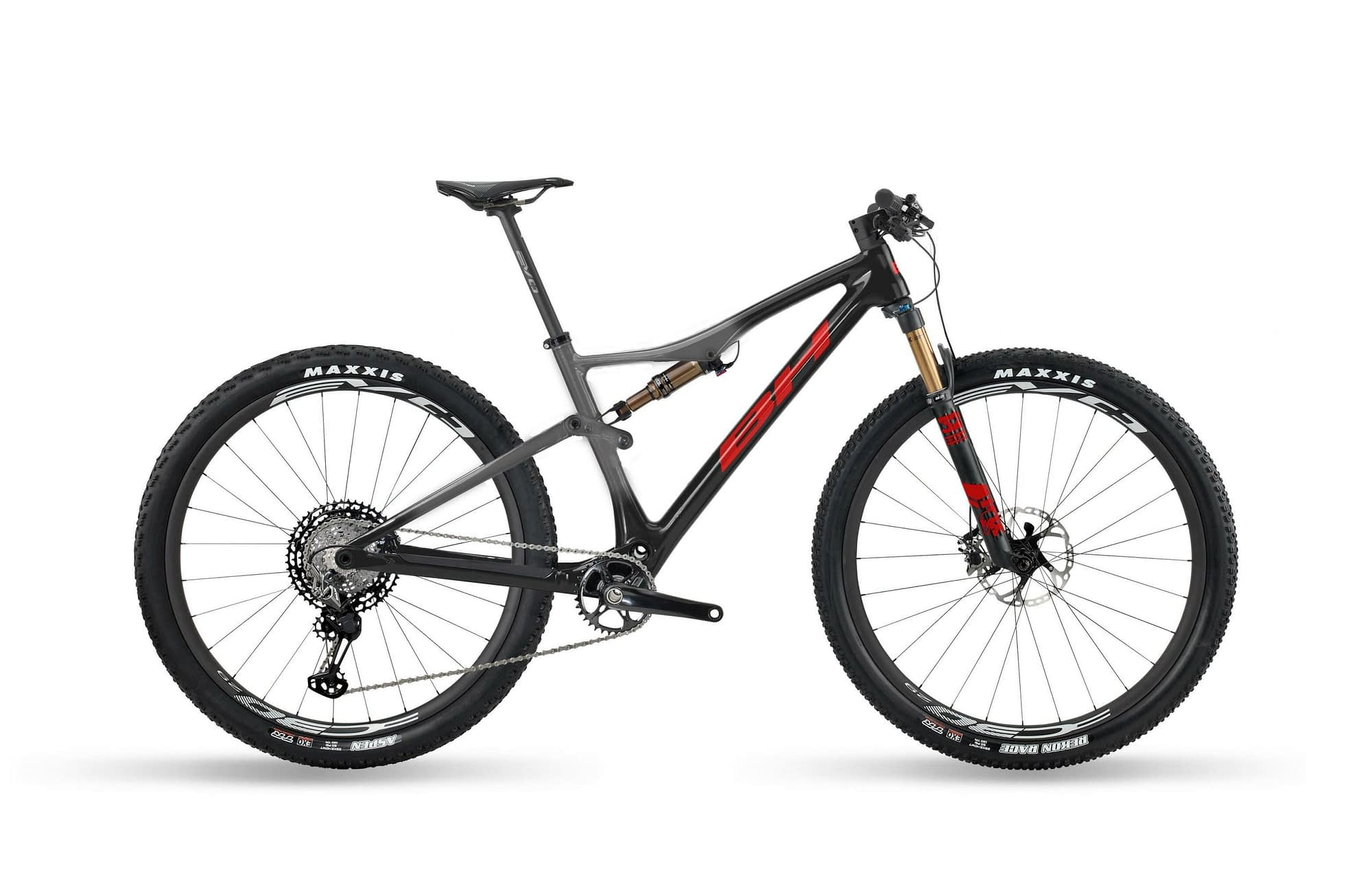 BH LYNX RACE EVO CARBON 9.5 - Anthracite / Rouge, XL